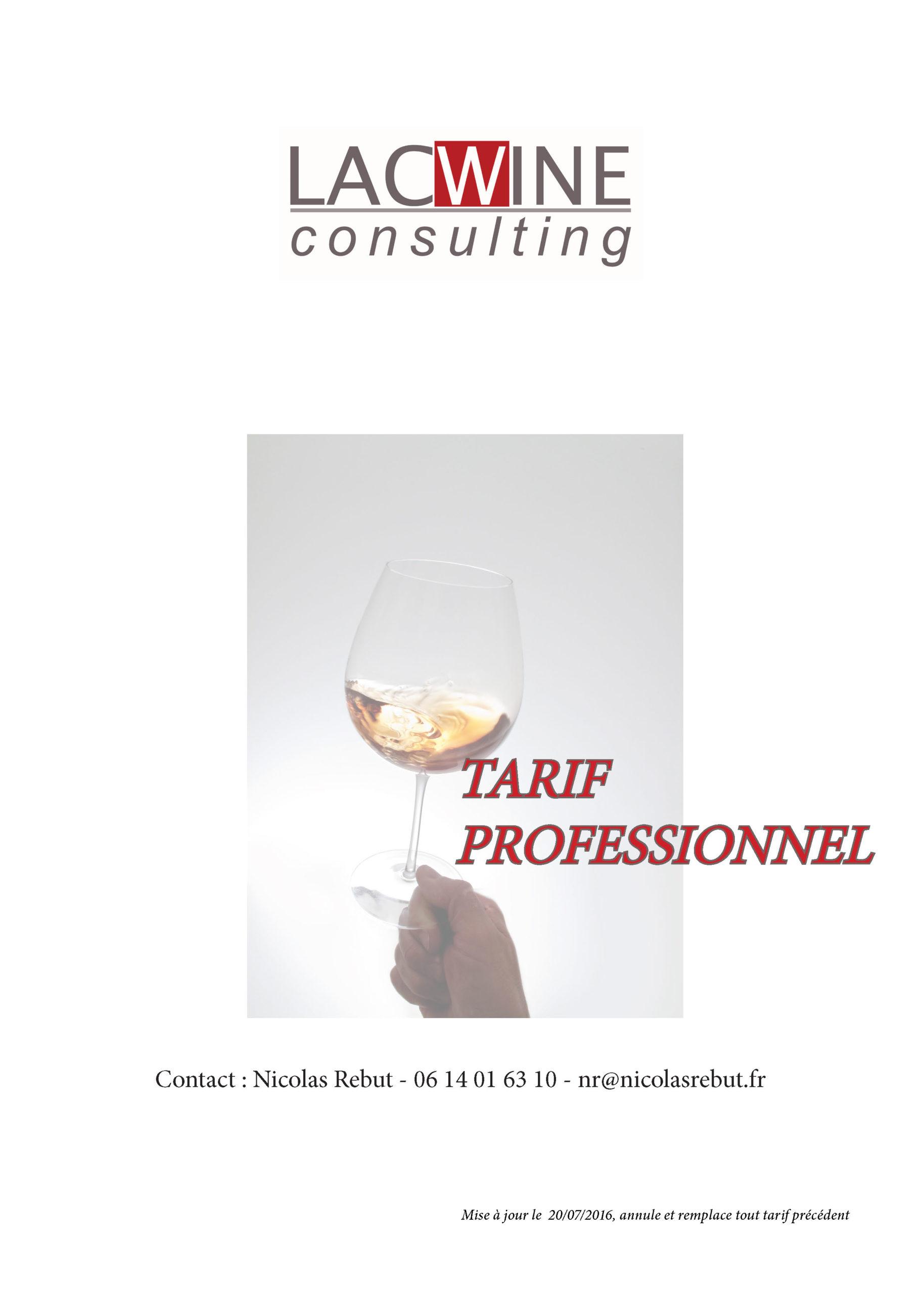 tarif professionnel
