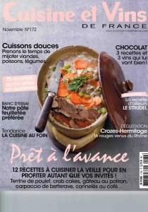 couv-cuisine-et-vins-de-france-nov-2016 - Mas des Agrunelles - Carino